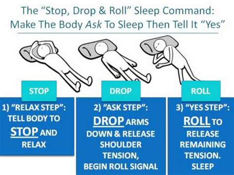 How To Stop Being A Sleeper by The Stop Drop Roll Sleep Command To Fall Asleep Fast