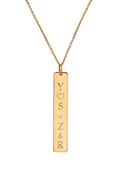 letters by zoe gold vertical name necklace from number