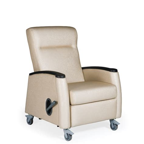 recliner medical tranquility mobile medical recliner vinyl upholstery
