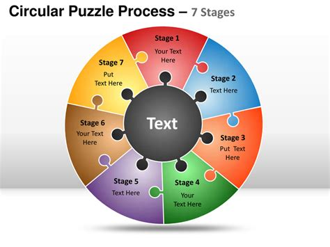 puzzle powerpoint template free circular puzzle 7 stages powerpoint presentation templates