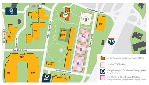 texas center parking map about olli at the university of texas at the university of texas at