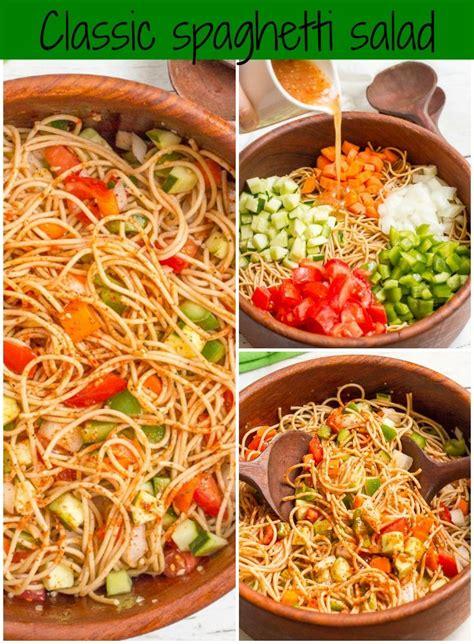 pasta salad with spaghetti noodles 25 best ideas about spaghetti salad on pinterest