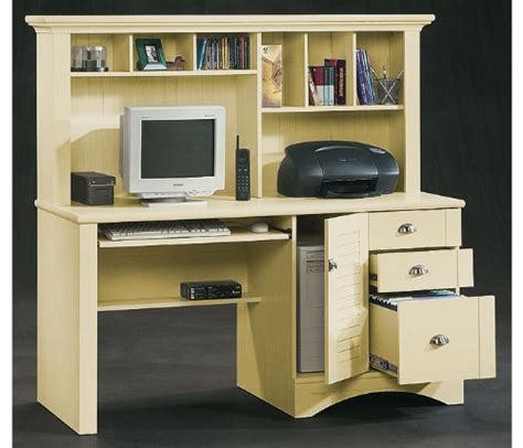 Cheap White Desk With Hutch Discount Sauder Harbor View Computer Desk With Hutch In Antiqued White Sauder Discount