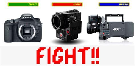 film camera red epic red epic vs arri alexa vs canon 7d the black and blue