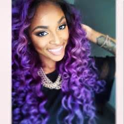 weave hairstyles with purple tips black hair purple ombre curls weave hair colors ideas