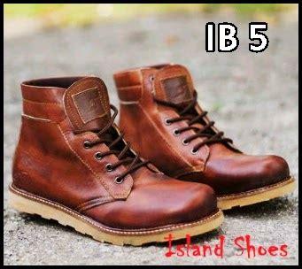 Sepatu Cowok Walu Size 40 44 sepatu boots kulit original island