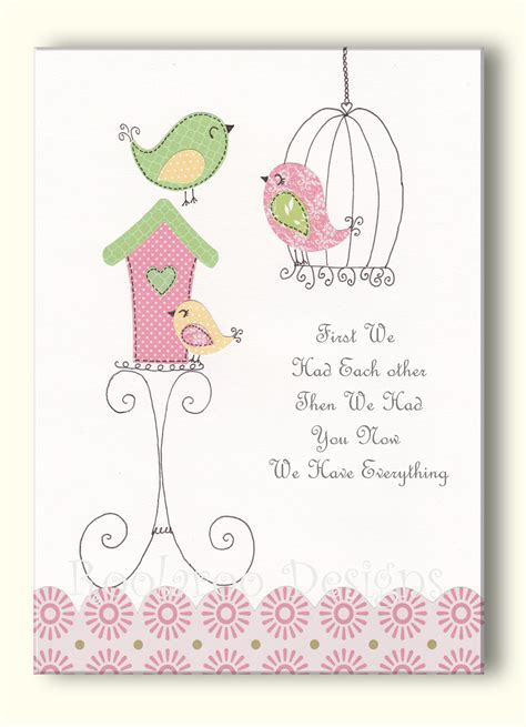 Bird Nursery Decor Nursery Artwork Bird Nursery Print Room Wall
