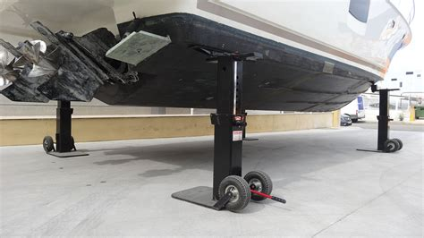 boat trailer on jack stands yardarm boat handling jacks lifters j j marine supplies