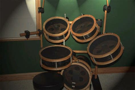 Diy Electronic Drum Rack by 5 Gallon 5 Electronic Drum Set Hackaday
