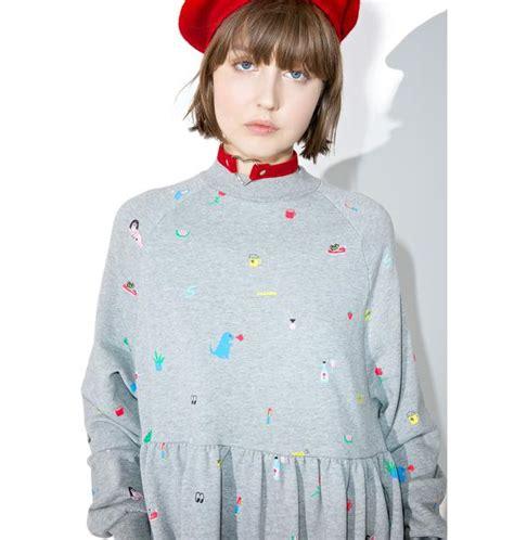 Random Sweater lazy oaf random icon sweater dress dolls kill