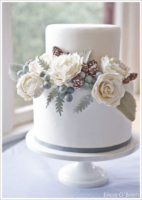 Hochzeitstorte Winter by From Flowers To Cake