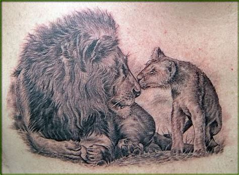 lion and cub tattoo 15 awesome tattoos check them out me now