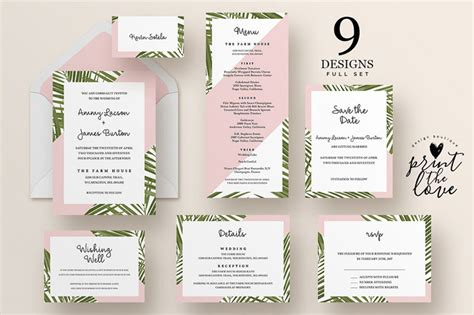 Wedding Invitation Suite by Top Wedding Invitation Templates