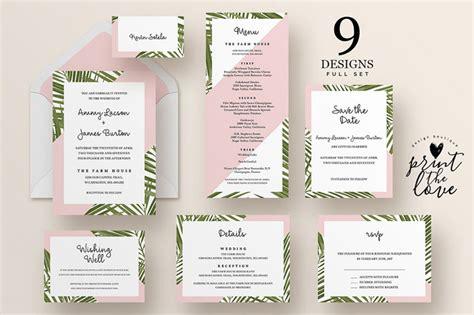 Top Wedding Invitation Templates Wedding Invitation Suite Templates