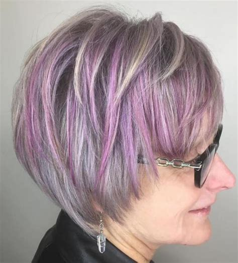 pictures of grey hairstyles with pink highlights 90 classy and simple short hairstyles for women over 50