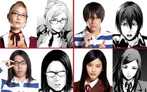 erased anime vs live prison school s live cast appears in costume looks