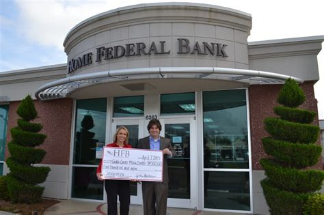 home federal bank donates 500 00 for scholarships caddo