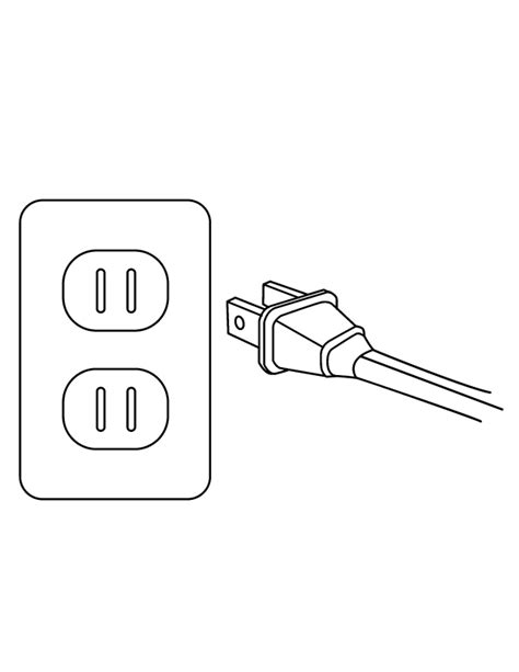 electrical outlet template electric coloring page coloring pages
