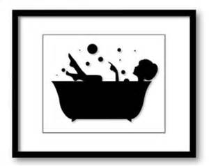 In a bath tub bathtub printable bathroom print art print wall decor