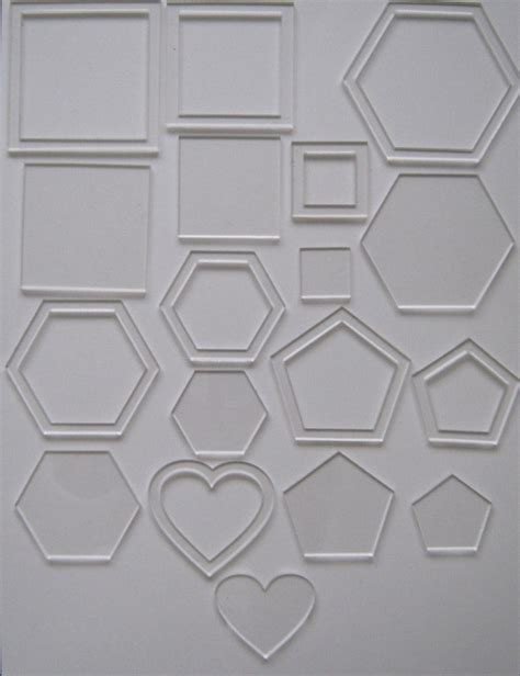 template plastic for quilting 18 clear acrylic plastic templates stencils patchwork