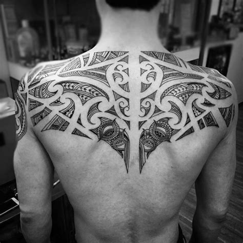 upper back tattoos men 100 maori designs for new zealand tribal ink ideas