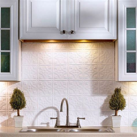 backsplash panel fasade 18 in x 24 in traditional 1 pvc decorative