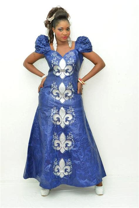 latest african designs for senegales brocade for women blue maxi dress with silver embroidery latest african