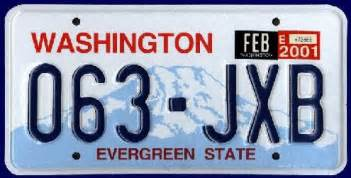 Vanity Plates Washington by Washington Y2k