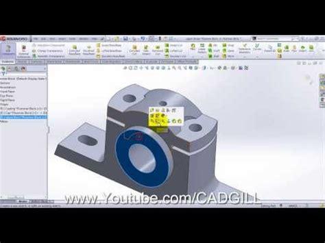 solidworks tutorial blocks plummer block video tutorial solidworks part 03 upper