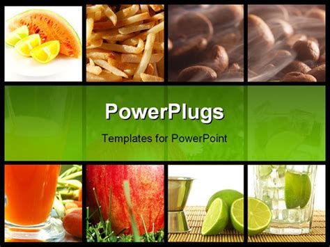 powerpoint food templates food and drink collage or collection showing healthy