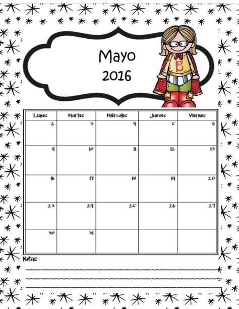 Calendario Mayo 2016 Im 225 Genes De Calendarios Infantiles De Mayo 2016 Para