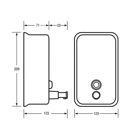 dispense autocad vertical liquid soap dispenser powder coat white ml605w