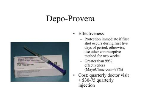 depo shot side effects mood swings ppt contraception powerpoint presentation id 251780