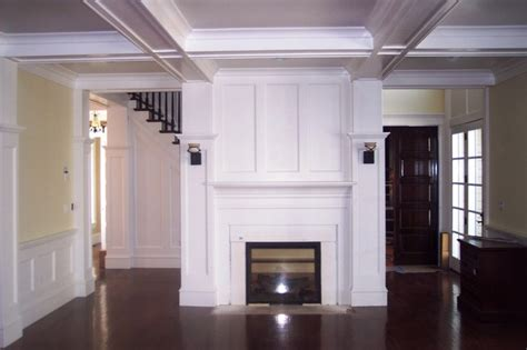 wood trim around fireplace wood trim fireplace