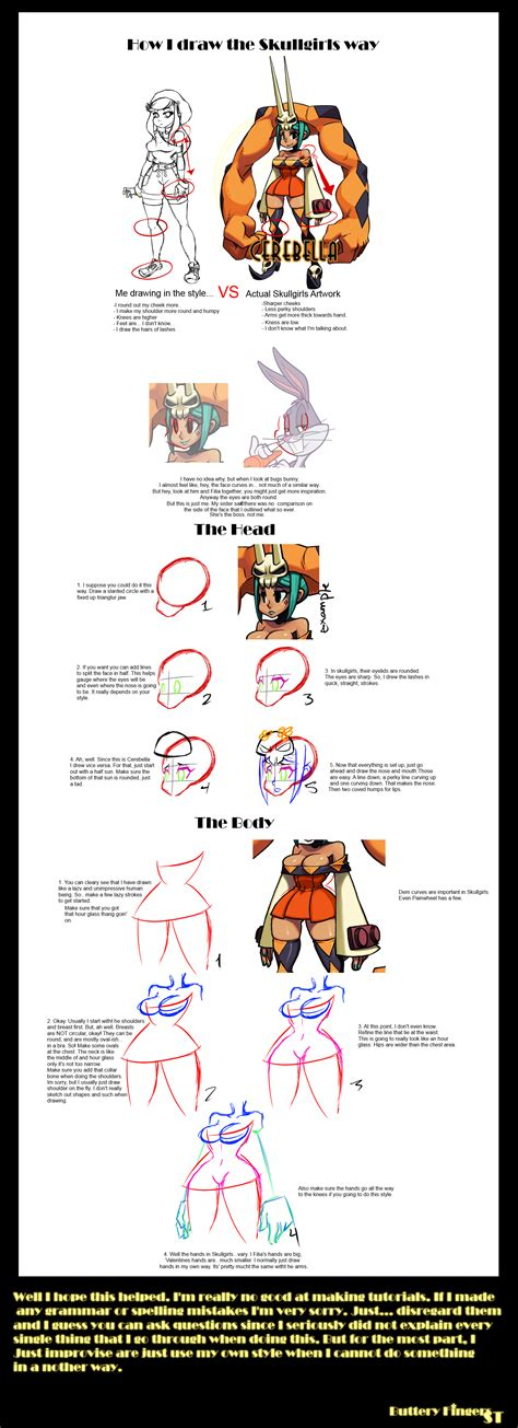 doodle drawing style how i draw the skullgirls way tutorial by