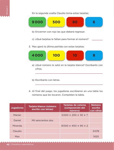 desafio matematicas 6 grado 2016 desaf 237 os matem 225 ticos libro para el alumno tercer grado