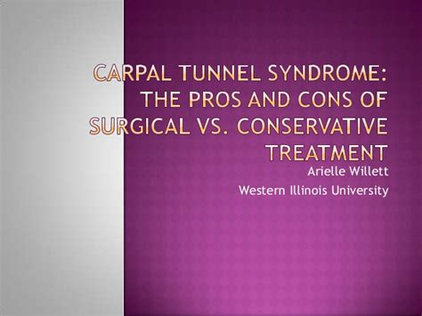 Cons Of Mba by Carpal Tunnel The Pros And Cons Of Surgical Vs
