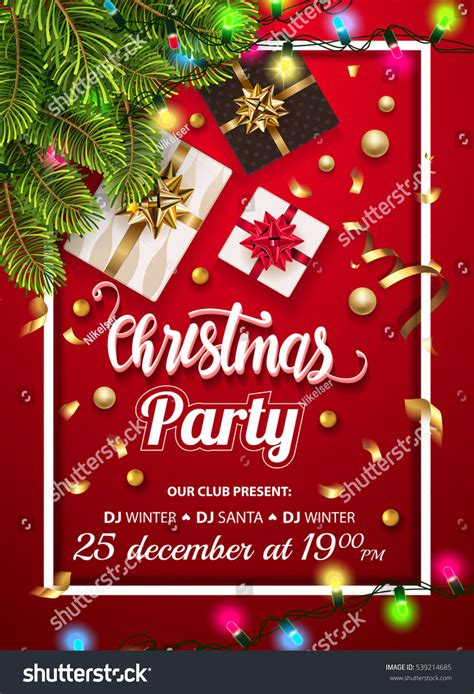layout for christmas party vintage christmas party design template new stock vector