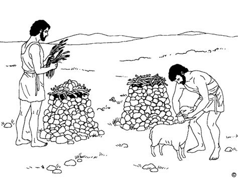 Cain And Abel Coloring Worksheet Coloring Pages Cain And Abel Coloring Page