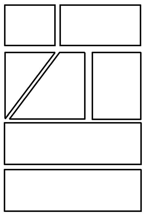comic panels blank images