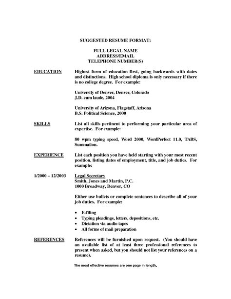 resume 54 resume fresh template list of