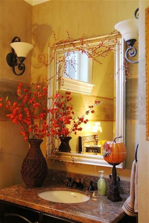 Fall Bathroom Decor autumn bathroom decor 2017 grasscloth wallpaper
