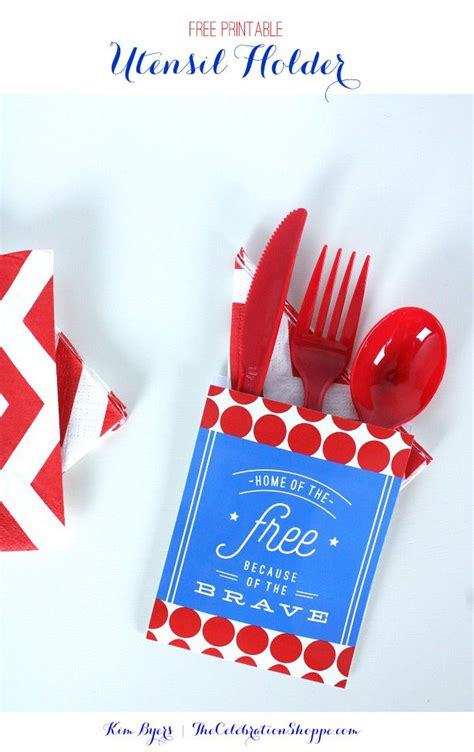 printable christmas utensil holders 1000 images about july 4th party ideas on pinterest