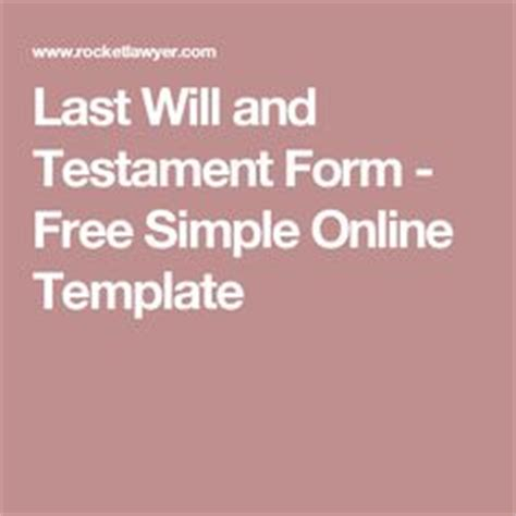 the last will and testament of an extremely distinguished books printable sle last will and testament template form