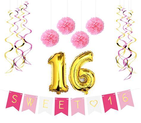 sweet 16 birthday party ideas thriftyfun newhairstylesformen2014com amazon com sweet 16 birthday party balloons 16th