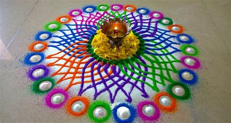 Decoration Themes For Ganesh Festival At Home by Best Rangoli Designs For Diwali Images Photos