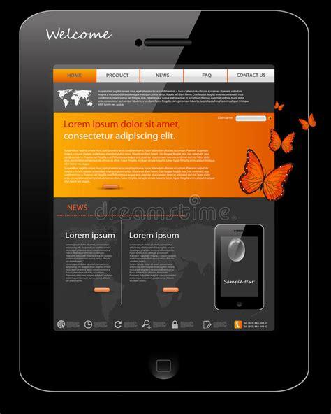 Website Template Universal Phone Design Stock Vector Illustration Of Glass Card 21587311 Universal Website Template