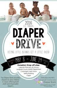 1st annual diaper drive langlade county health department