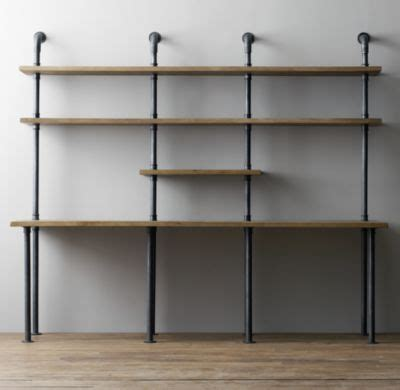 pipe desk with shelves industrial pipe desk with shelving
