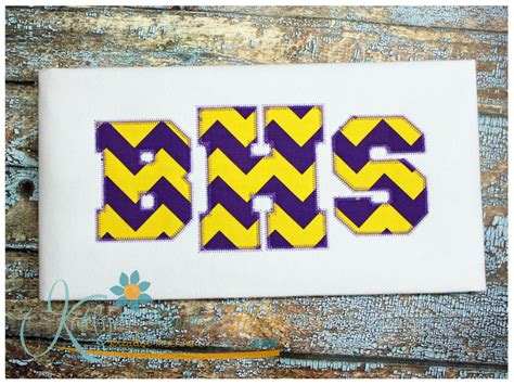 zig zag applique athletic applique zig zag font 5 sizes